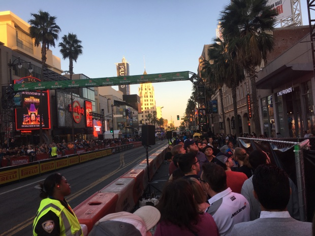 Hollywood and Highland as the sun sets